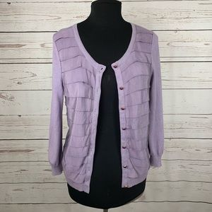 Lilac Michael Kors tiered sweater